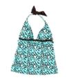 Hobie Womens Printed Halter Swim Top
