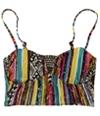 Hobie Womens Printed Middle Gather Bandeau Swim Top