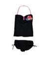 Hobie Womens Glitter Tropical Side Tie 2 Piece Bandeau