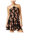 Bee Darlin Womens Strappy Back Fit & Flare Dress