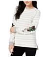 Carbon Copy Womens Striped Sweatshirt