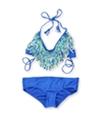 Raisins Womens Halter Fringe 2 Piece Bikini