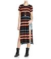 Free People Womens Too Legit Stripe Tunic Dress
