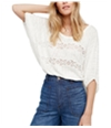 Free People Womens I'm Your Baby Pullover Knit Blouse