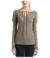Free People Womens Crochet Pullover Blouse