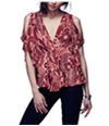 Free People Womens Amour Abstract Pullover Blouse
