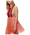 Free People Womens Katies Crochet A-Line Dress