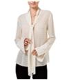 Rachel Roy Womens Tie-Neck Pullover Blouse