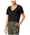 Rachel Roy Womens V-Neck Basic T-Shirt