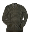 Sons of Intrigue Mens V-neck Stripe Knit Sweater mossmulti 2XL