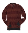 Sons of Intrigue Mens Straight Fit Knit Sweater brickmulti XL