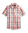 Sean John Mens Ss Plaid Button Up Shirt
