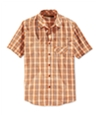Sean John Mens Ss Check Button Up Shirt