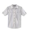 Sean John Mens Window Pane Ss Button Up Shirt