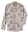 Tallia Mens Leaf Button Up Shirt