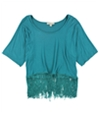 testament Womens Fringed Pullover Blouse green M