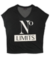 Material Girl Womens Mesh-Back Gym Graphic T-Shirt
