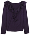 Tags Weekly Womens Ruffle Pullover Blouse