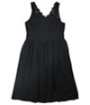 Tags Weekly Womens Lace Pleated A-Line Dress