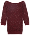 Tags Weekly Womens Lace Pullover Blouse