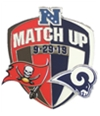 Wincraft Unisex La Rams Match Up Pins Brooch Souvenir