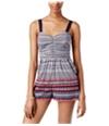 American Rag Womens Sleeveless Printed Romper Jumpsuit