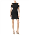 Guess Womens Cold Shoulder Bodycon Dress