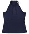 Guess Womens Elyza Tie-Neck Basic T-Shirt