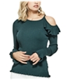 Guess Womens Cold Shoulder Knit Blouse