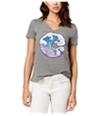 Carbon Copy Womens Wave Graphic T-Shirt