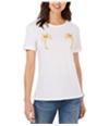 Carbon Copy Womens Palm Tree Graphic T-Shirt