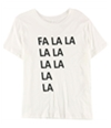 Carbon Copy Womens Fa La La Graphic T-Shirt