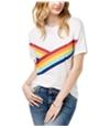 Carbon Copy Womens Rainbow Graphic T-Shirt