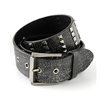 Ecko Unltd. Mens Studded Cracked Leather Belt