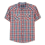 Ecko Unltd. Mens Mercer Ss Woven Plaid Button Up Shirt