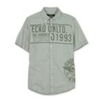 Ecko Unltd. Mens Kings Ss Woven Graphic Button Up Shirt