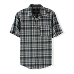 Ecko Unltd. Mens Bright Plaid Ss Button Up Shirt