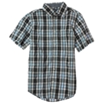 Ecko Unltd. Mens Uni-c Fabric Plaid Button Up Shirt