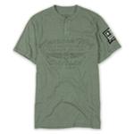 Ecko Unltd. Mens American Way Graphic Henley Shirt