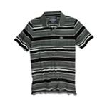 Ecko Unltd. Mens Multicolor Striped Rhino Rugby Polo Shirt