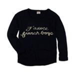 Black Poppy Womens Naughty Knit Sweater