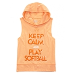 Justice Girls Keep Calm Softball Embellished T-Shirt