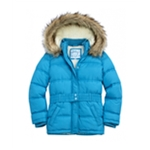 Justice Girls Faux Fur Puffer Jacket