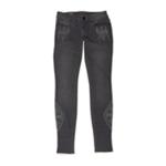 Bullhead Denim Co. Womens Embroidered Skinniest Skinny Fit Jeans