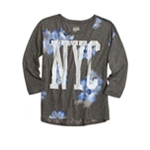 Justice Girls Floral NYC Embellished T-Shirt