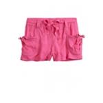 Justice Girls Slim Sash Belt Casual Chino Shorts