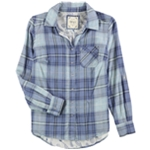 Style & Co. Womens Plaid Button Up Shirt