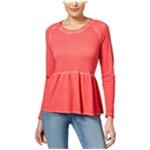 Style&co. Womens Peplum Flounce Sweatshirt