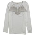 Style & Co. Womens Geometric Embellished T-Shirt