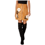 I-N-C Womens Suede Applique Mini Skirt